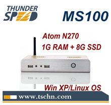 Linux Ubuntu Mini PC with Atom N270 CPU 1GB RAM 8GB SSD Fanless RDP 7.0 Windows XPE OS