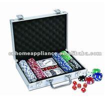 200pcs Poker Chip Set In Aluminum Case