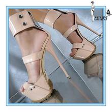 Nude mode sandalen! Sommer sexy sandalen für frauen 2014