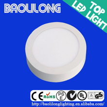 Circle high brightness CE and RoHS 12w led panel light surface mounted