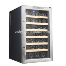 28 bottles wine cooler with glass door display