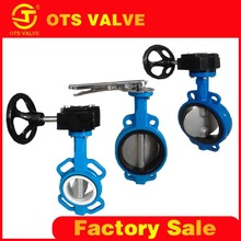 BV-LY-0224 dn150 butterfly valve casting body rubber seal with handle