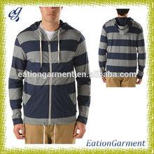 custom zip up hoodies french terry cotton plain hoodie for men