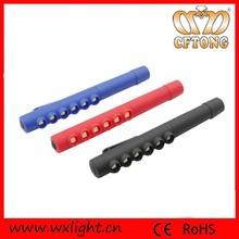 2014 hot sell popular pocket clip 6 led flashlight pen