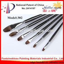 2014 Top Sale Professional Wooden Handle Paint Brush Pen for Sale