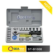 "21PCS 1/4""&3/8 DR Square Driver 2014 Hot Sale Master Carbon Steel Hand Auto Repair Tools Socket Set"