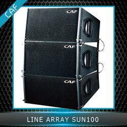 CAF Stage Speaker High Qualit SUN100 Two-way active double 8 inch active mini line array