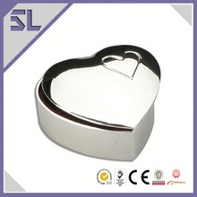 Small Metal Mirror Polished Finish Heart Shape Small Metal Trinket Box Cheap Jewelry Boxes Wholesale China Supply