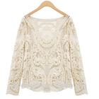 fashion elegant lace tops blouses