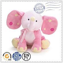 Handmade custom stuffed animal soft stuffed stuffed elephant plush cushion