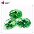 atacado forma oval corte perfeito solta cz pedra esmeralda preços