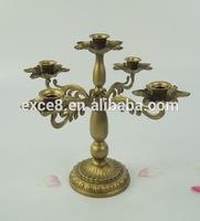 French antique wedding gold candelabra handmade