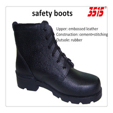 durable slip resistance leather ankle boots safety boots