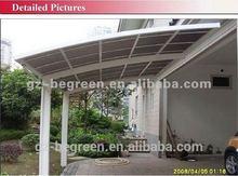 PC Roofing Material Garages,Great Impact Resistant Aluminum Carport Canopy