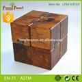 alta qualidade 3d engraçado a montagem de brinquedos de madeira puzzle cube