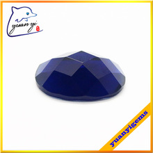 Blue Oval cut glass gemstone
