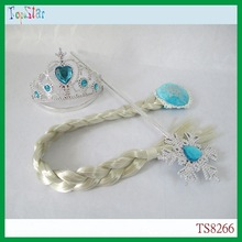 China Wholesale Princess Frozen Elsa Tiara Wig Wand Set