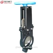 Non rising stem knife gate valve