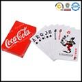 Brauch hochwertige druckpapier poker-kartenspiel kunststoff magie spielkarte in pu-leder box dose papierkasten holz bo