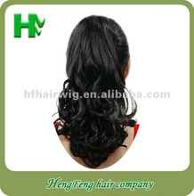 black hair clip ponytail curly weave ponytails for ladies long curly drawstring ponytail