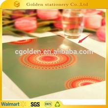 2015 advertising 3D promotional polypropylene plastic placemat