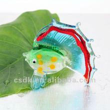 Handcrafted art glass murano figurine tropical fish