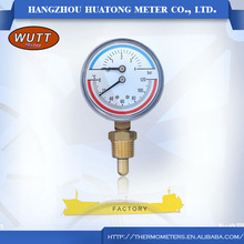 Best price well sale high quality oem zhejiang popular combined temperature pressure gauge