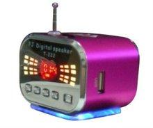 Aluminum alloy audio player,Mini radio speaker