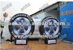 advertising inflatable tyre (promotion,car,sale,replica)
