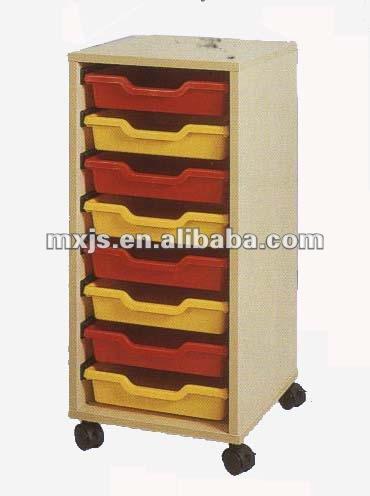 Meubles d 39 archivage en plastique avec 8 tiroirs et roues for Meuble tiroir plastique