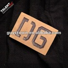 custom private brand name sew stiching & laser cutting genuine leather labels for jeans