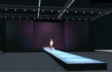 fashion show mobile catwalk stage with backdrop