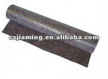 Carpet underlay/recycled needle punched felt with pe protective film