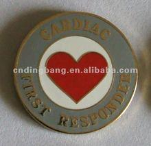 2012 Metal lovely heart shape enamel button pin