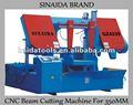 Sinaida marque diamètre 350 mm double colonne horizontale CNC faisceau Machine de découpe