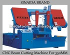 SINAIDA Brand Diameter 350mm Dual Column Horizontal CNC Beam Cutting Machine