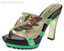 Fashion Women Sandal with Rivet/High Heel Platform Sandal