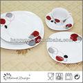 ql4763 alemanha quadrados jantar de porcelana conjunto com decalque