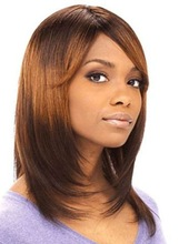 hairpieces for black women front lace wig in #4 with layer