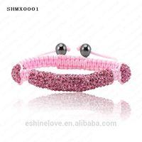 Silver pipe bracelet, Evil eye beads style shamballa bracelet 2012 -SHMXmix1
