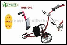 3 Wheels Remote Control Golf Trolley Golf Caddy Golf Trundler with Stainless Steel Axle (HMR-902)