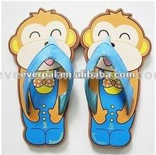 2013 cute animal men slipper flip flops