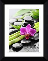 Black plastic wooden photo frame wholesale 4x6