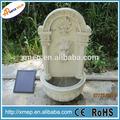 fibra de vidro cabeça de leão de parede fonte com bomba solar