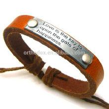 Hot Sale Zinc Alloy Leather Bracelet