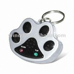 Dog accesories waterproof voice recorder blank tags