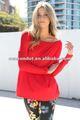 outono quente venda salão vermelho túnica das senhoras causal blusa