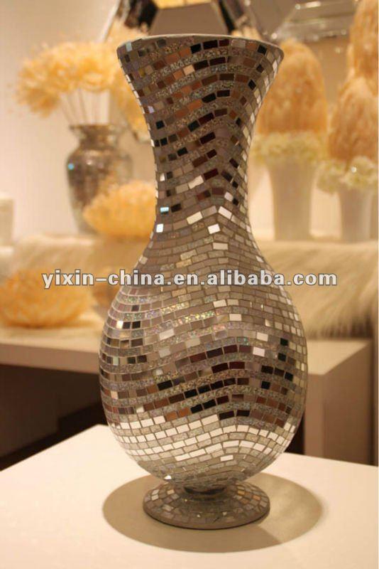 Hecho a mano de plata de grandes espejos de vidrio mosaico for Precio de espejos grandes