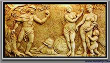 Fiberglass relief - Western style Fairy relief wall sculpture