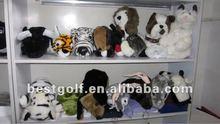 Animal wood golf club head covers